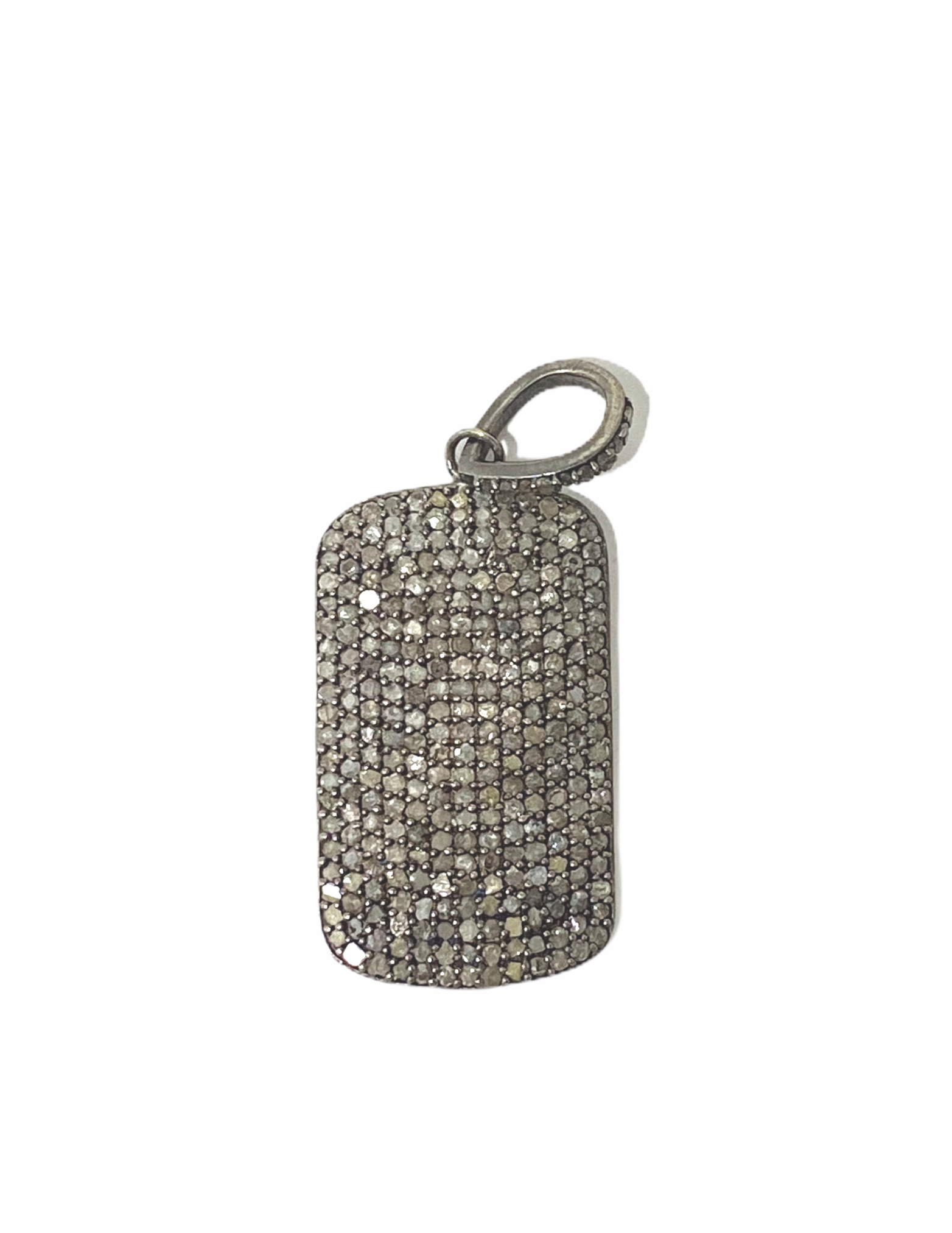 S.Row Designs Diamond Dog Tag Pendant