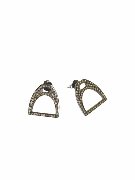S.Row Designs Diamond Stirrup Earrings