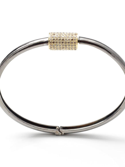S. Row Designs Barrel Bracelet with Pave Diamonds