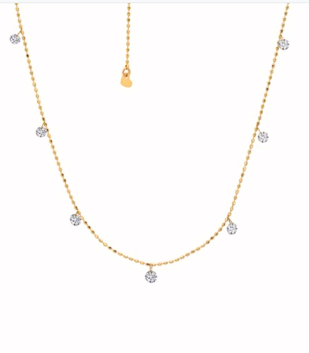 Graziela Yellow Tiny Floating Diamond Necklace