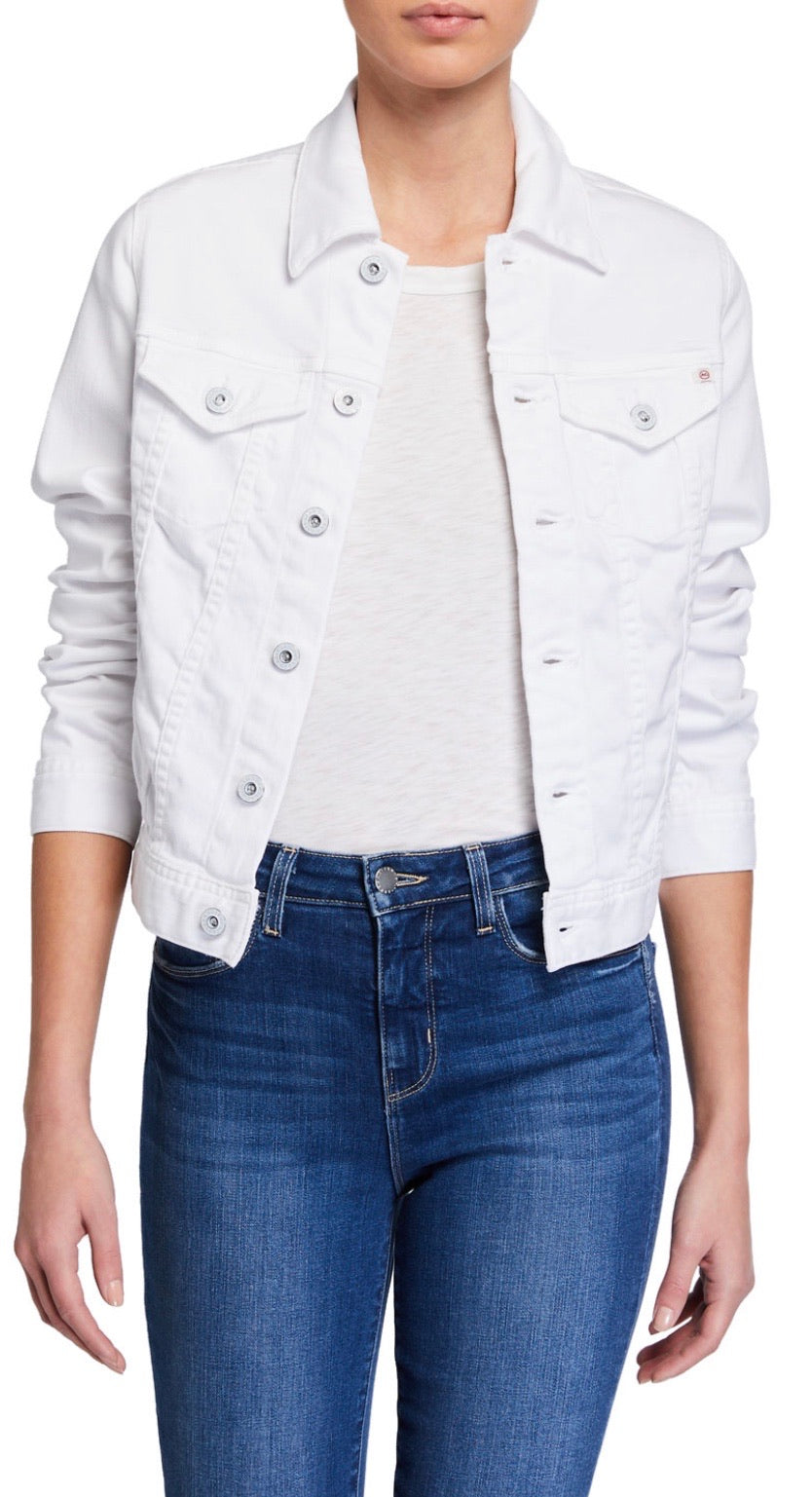 AG White Robyn Denim Jacket