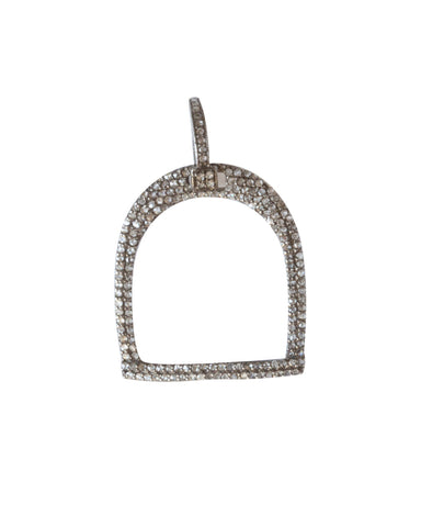 Pave Diamond Stirrup Pendant