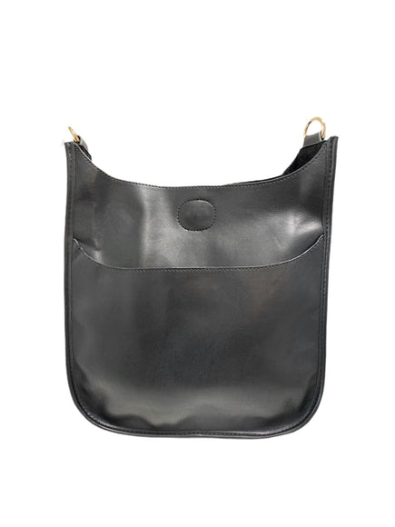 Black Mini Messenger Handbag (STRAP SOLD SEPARATELY)