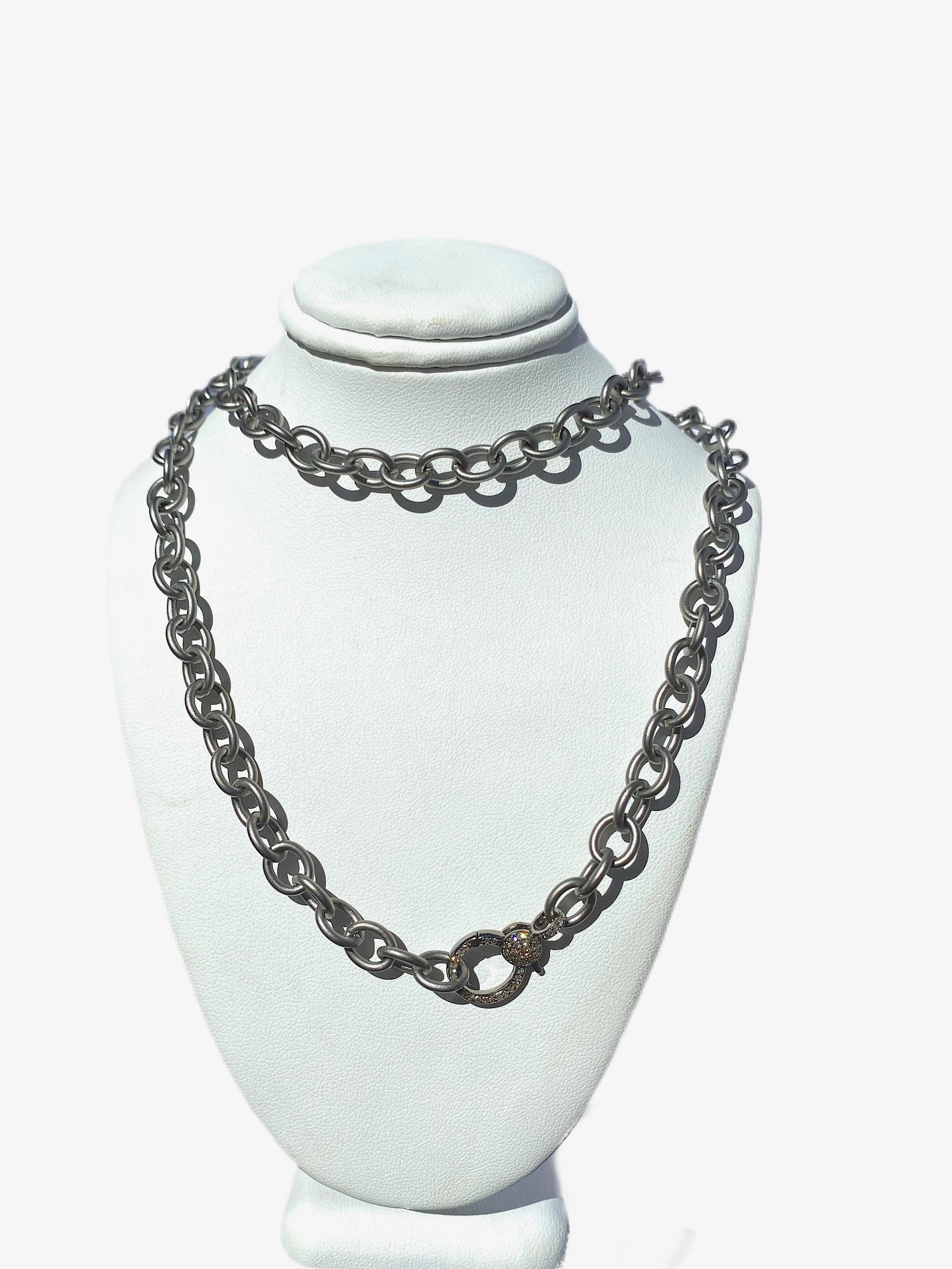 "S.Row Designs 33"" Sterling Silver Link Necklace"