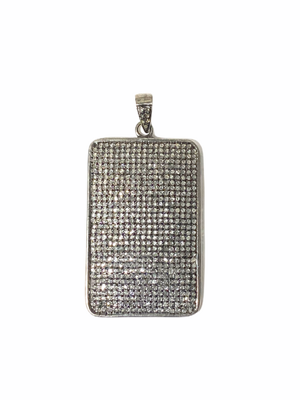 S. Row Designs Diamond Rectangle Dog Tag Pendant