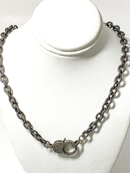 S.Row Designs Sterling Silver Chain with Diamond Claw Clasp