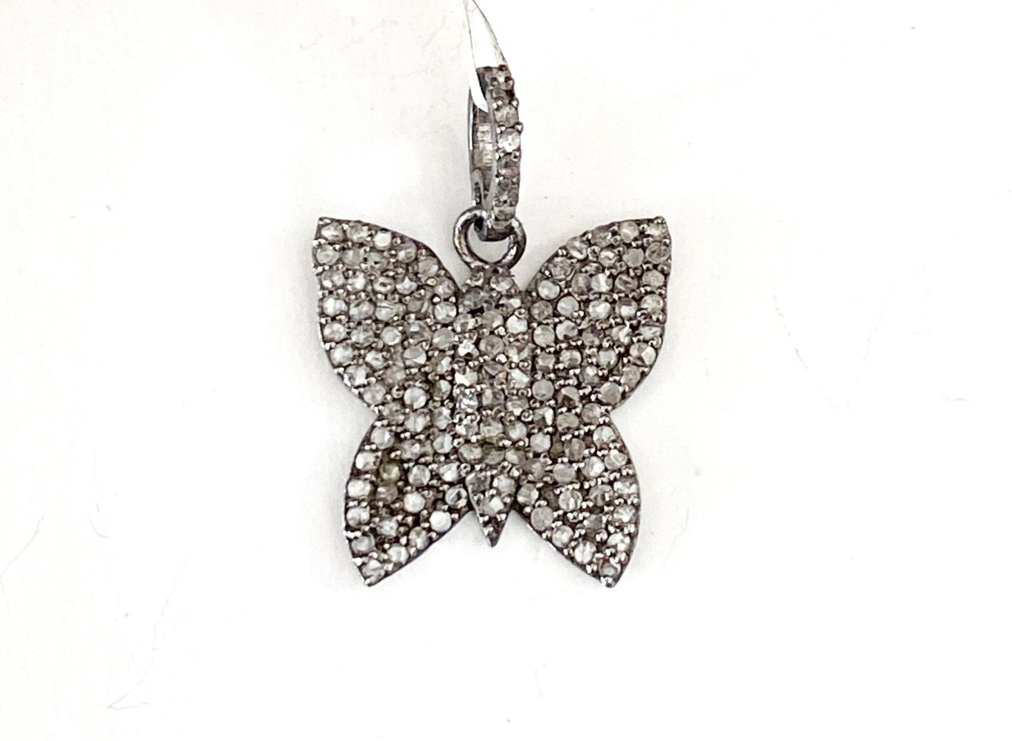 S. Row Designs Silver Diamond Butterfly Pendant