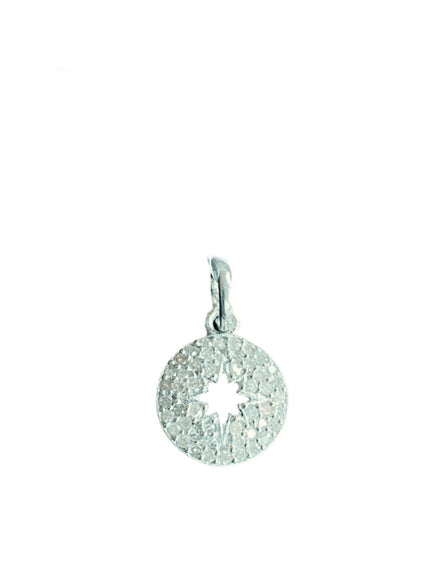 S.Row Designs 14K and Diamond Star Cut Pendant