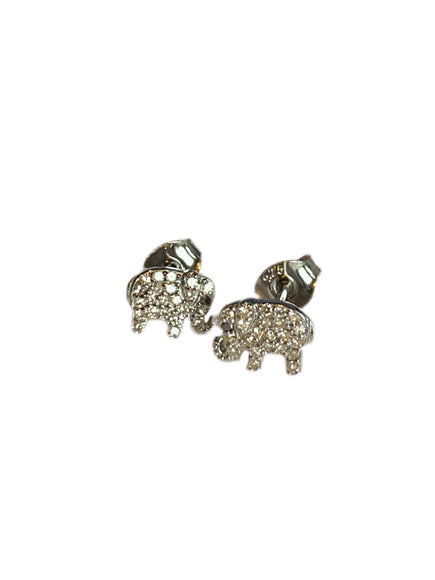 S.Row Designs Diamond Small Elephant Earrings