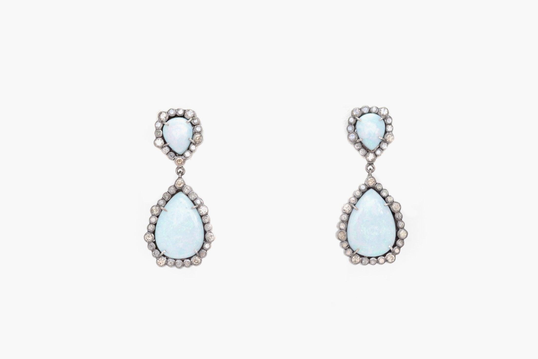 S.Row Designs Opal and Diamond Earrings
