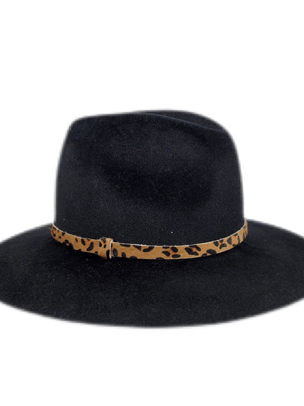 Hat Attack Luxe Madison Black Leopard