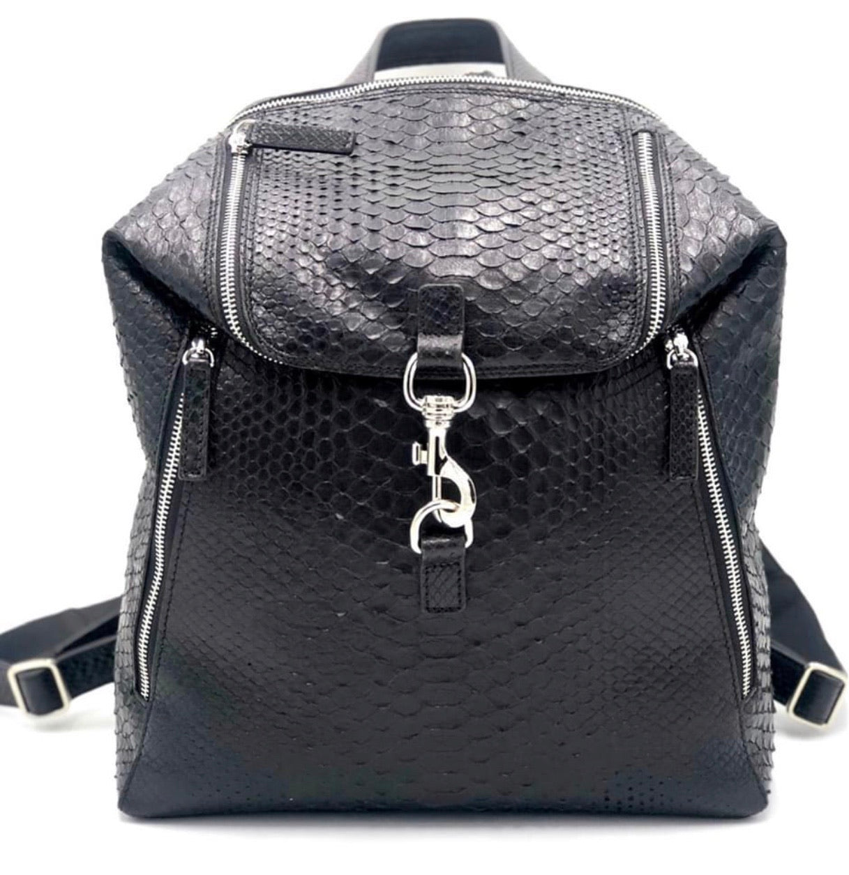 Italian Python and Leather Backpack