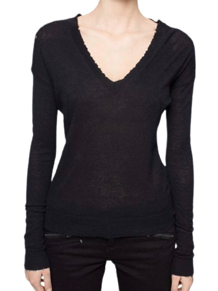 Zadig & Voltaire Happy M Wings V-Neck Sweater