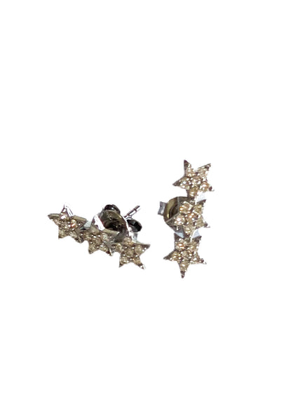 S.Row Designs Triple Diamond Star Earrings