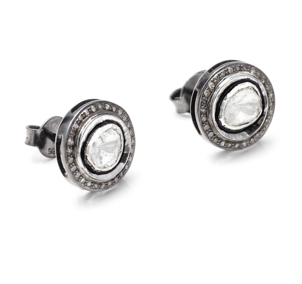 S.Row Designs Round Diamond Studs