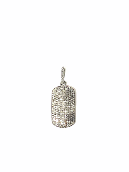 S.Row Designs Diamond Small Dog Tag Pendant