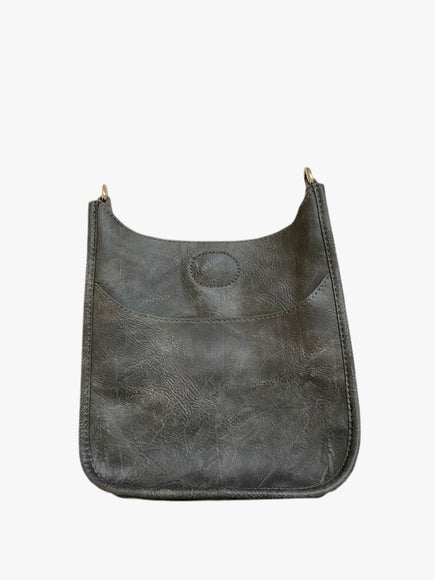 Grey Mini Messenger Handbag (STRAP SOLD SEPARATELY)