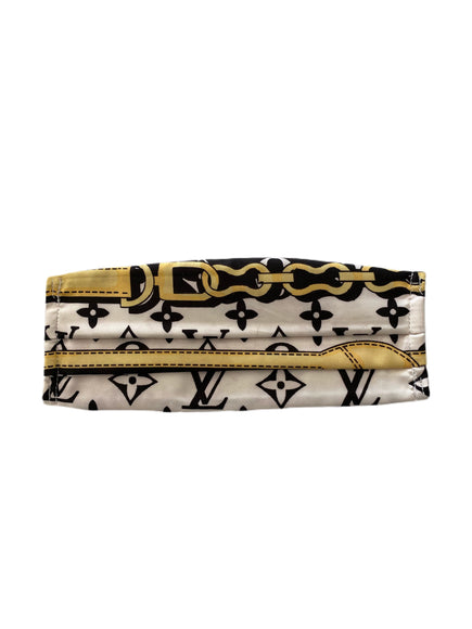 Louis Vuitton Ivory/Black/Gold Buckle Face Mask