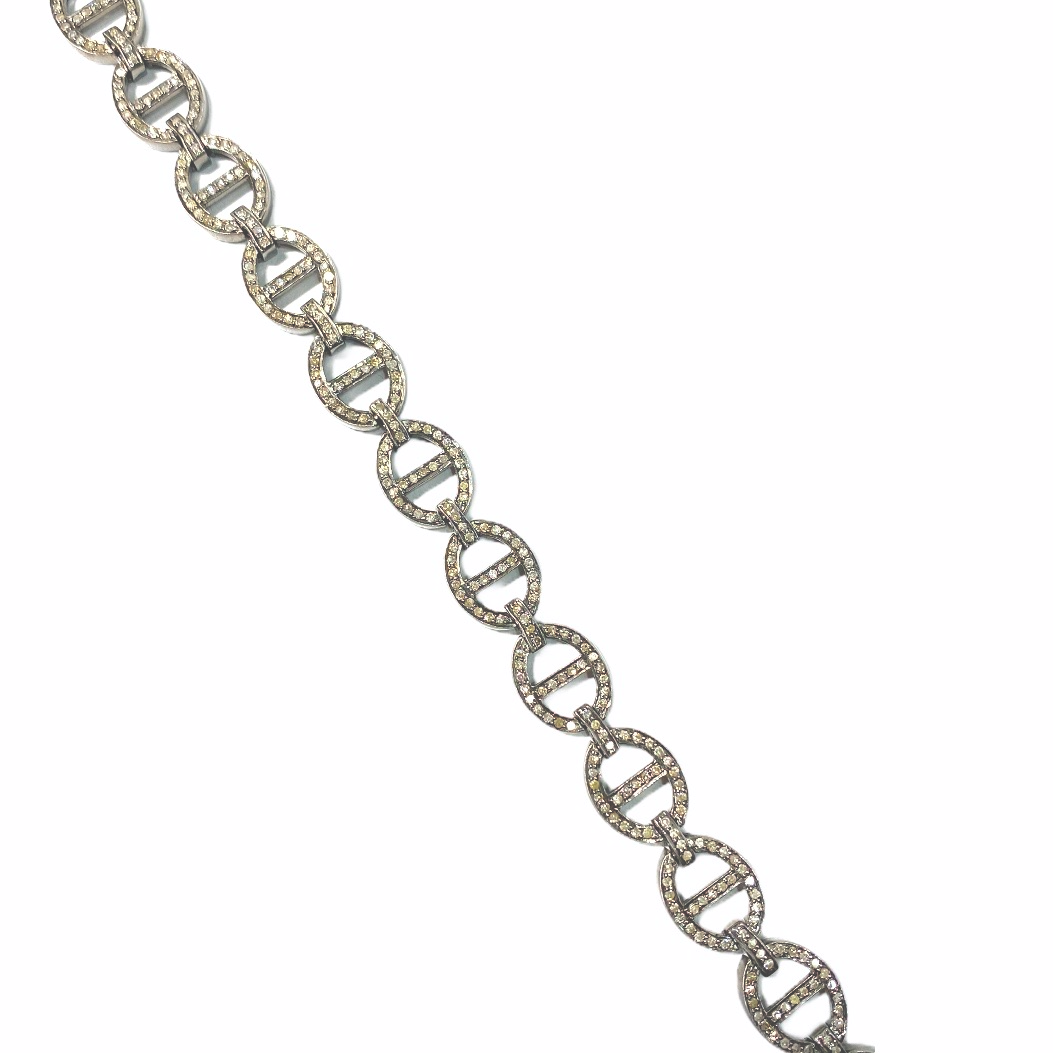 S.Row Designs Sterling Silver and Diamond Necklace