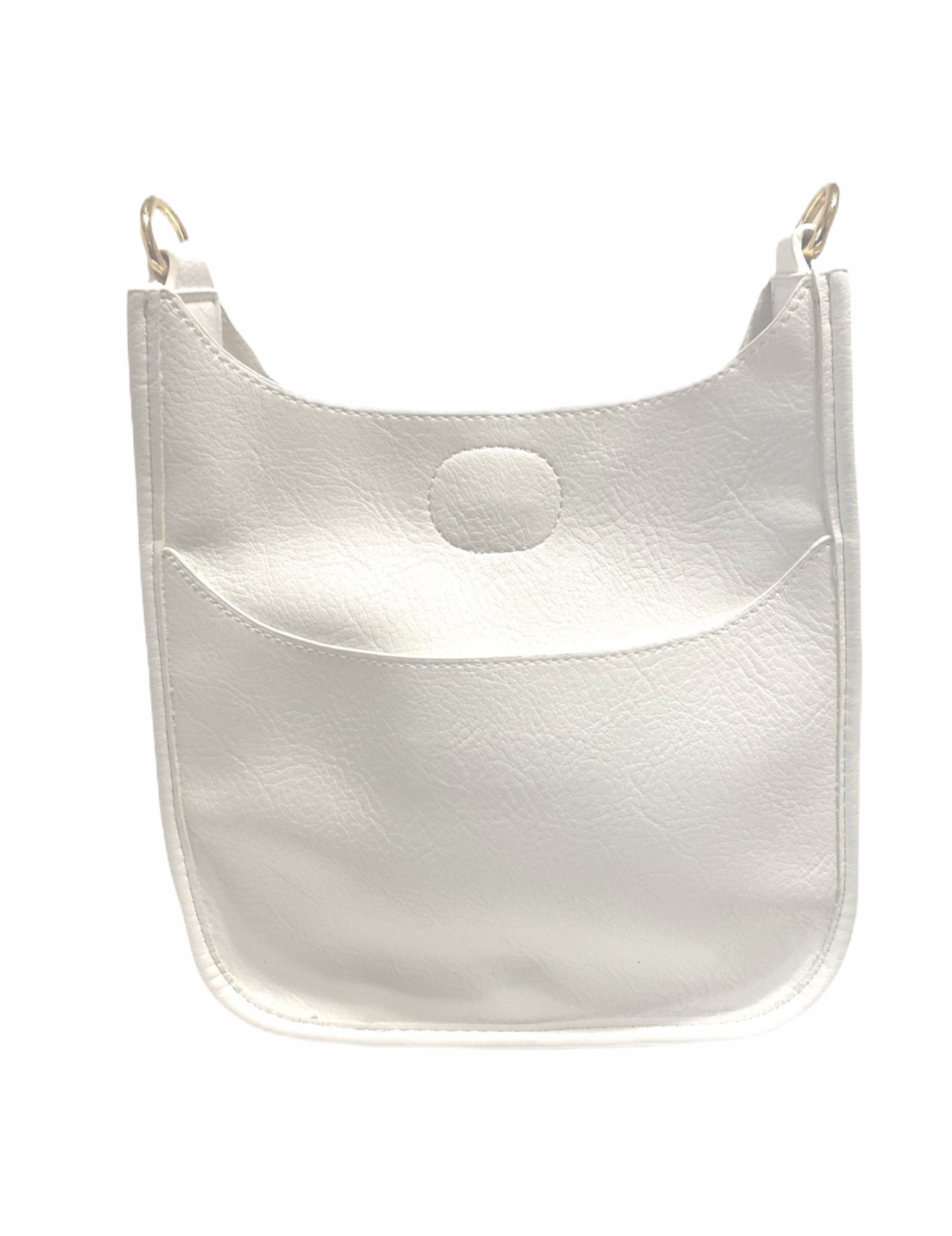 Petite White Messenger Bag (STRAP SOLD SEPARATELY)
