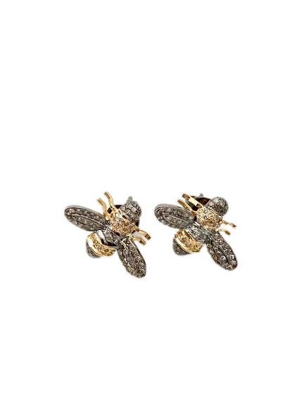 S.Row Designs Diamond Bee Earrings
