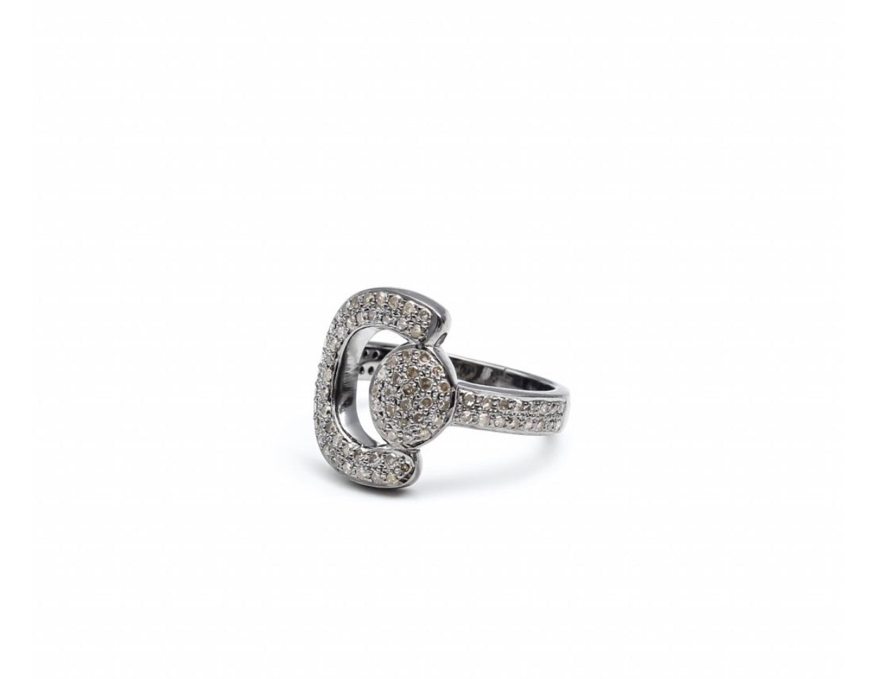 S.Row Designs Pave Diamond Horsebit Ring