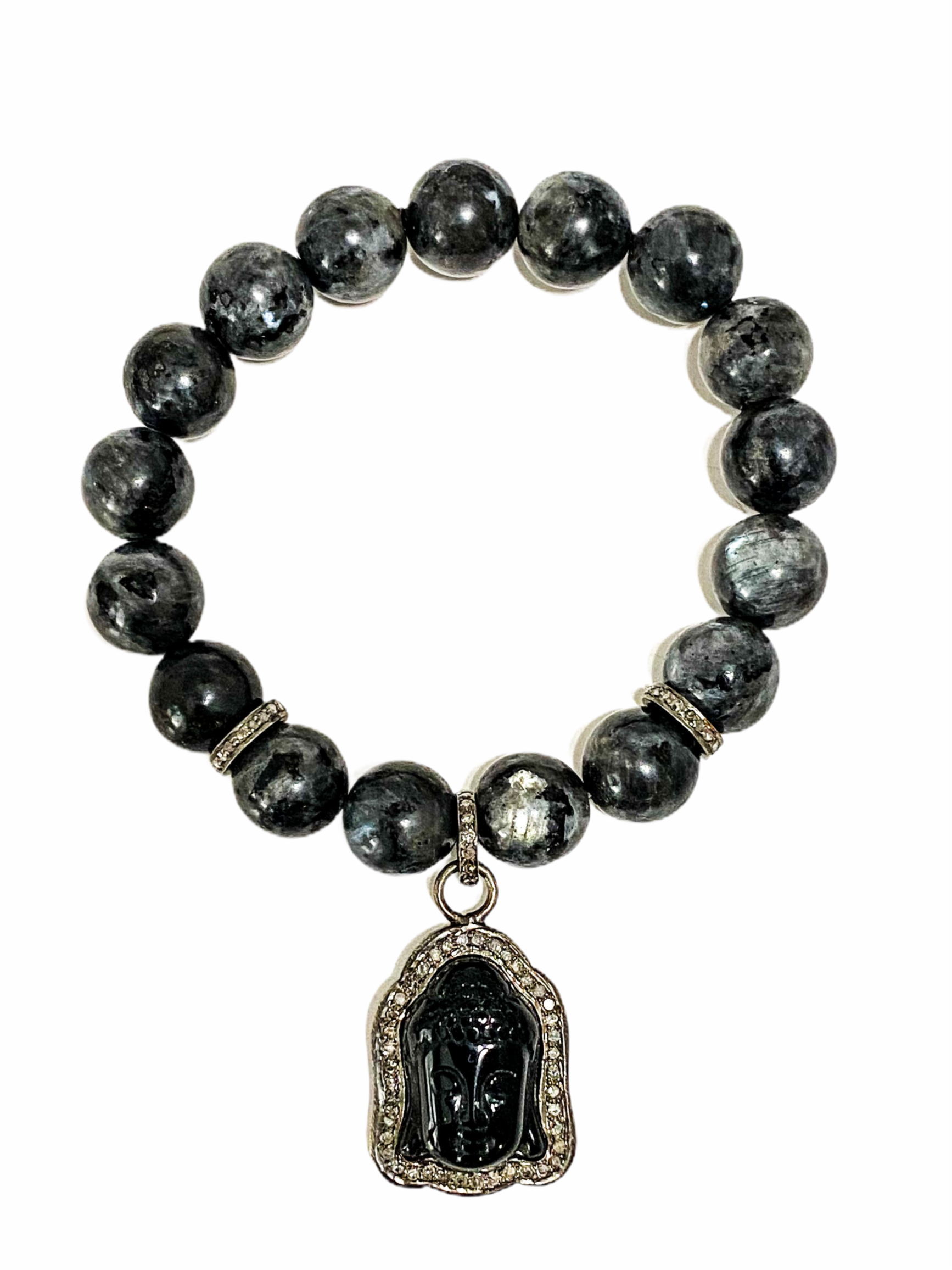 S.Row Designs Onyx Beaded Buddha Bracelet