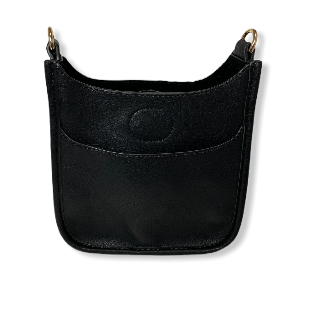 Petite Black Messenger Bag  (STRAP SOLD SEPARATELY)