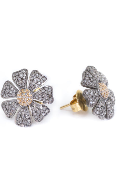 S.Row Designs Diamond Flower Stud Earring