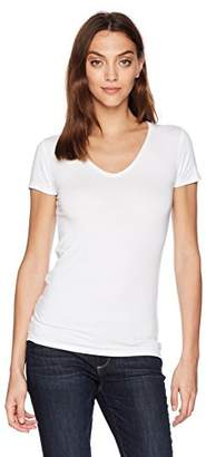 Soft Touch SS Flat Edge V-Neck Tee