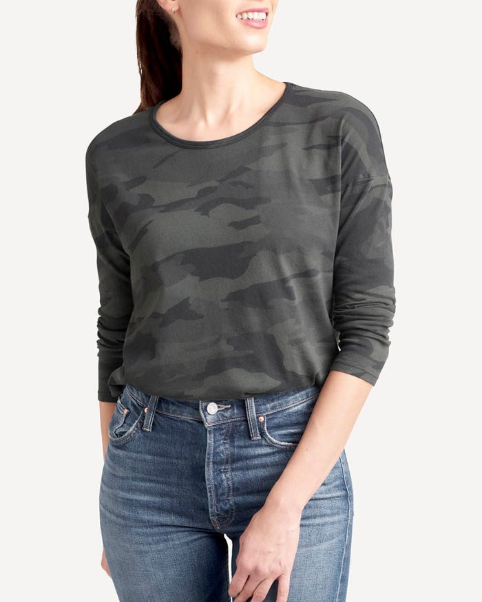 Splendid Zander Camo Long Sleeve Tee