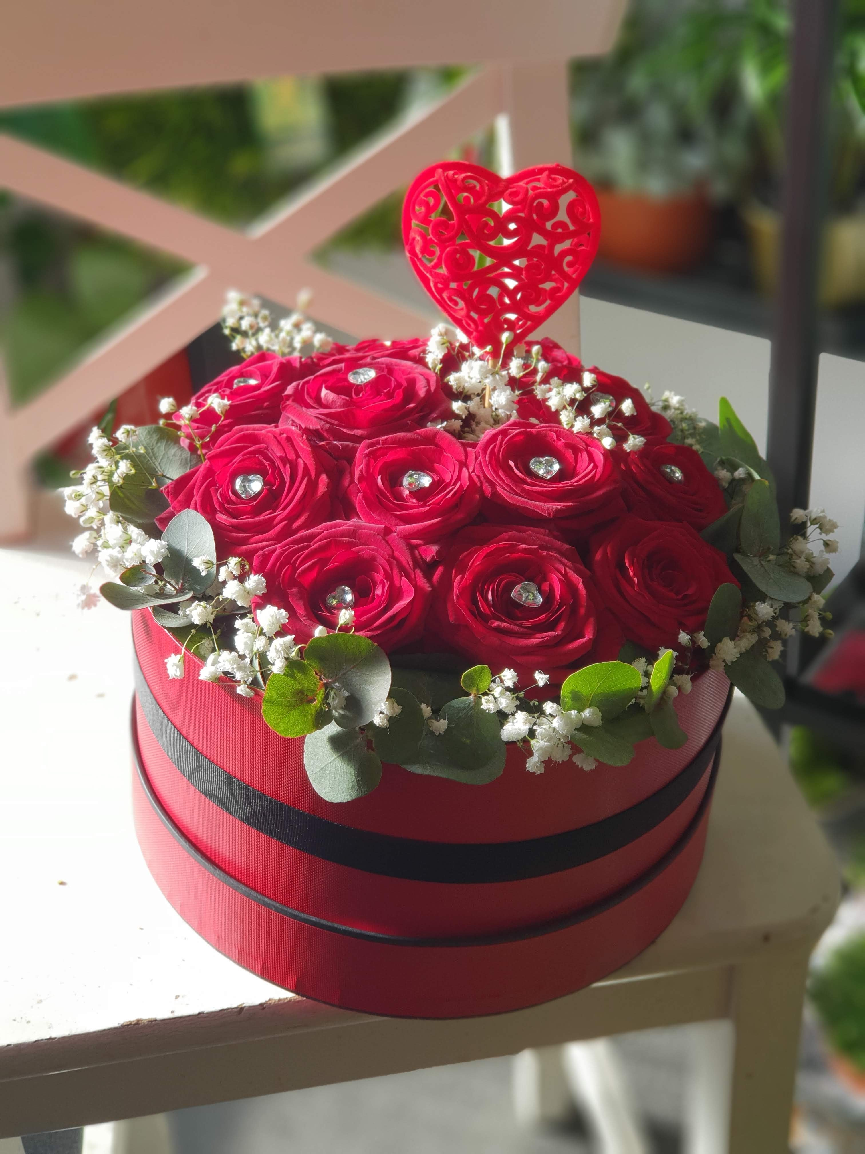 Red Roses Hat box