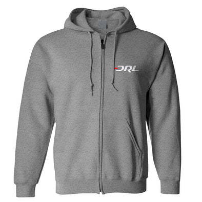 DRL Classic Zip Hoodie - Heather Gray