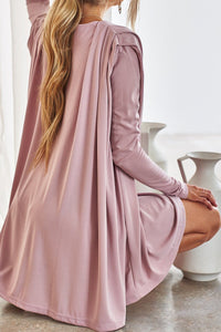 Cruz Dress in Dusty Rose