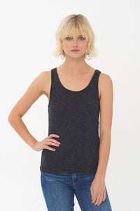 Jamie Ribbed Tank in Black