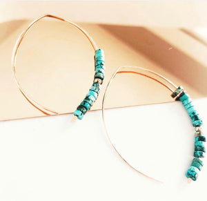 Belize Earrings- silver / Turquoise