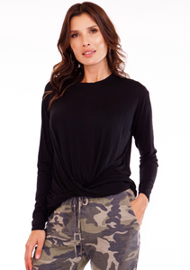 front twist top, black