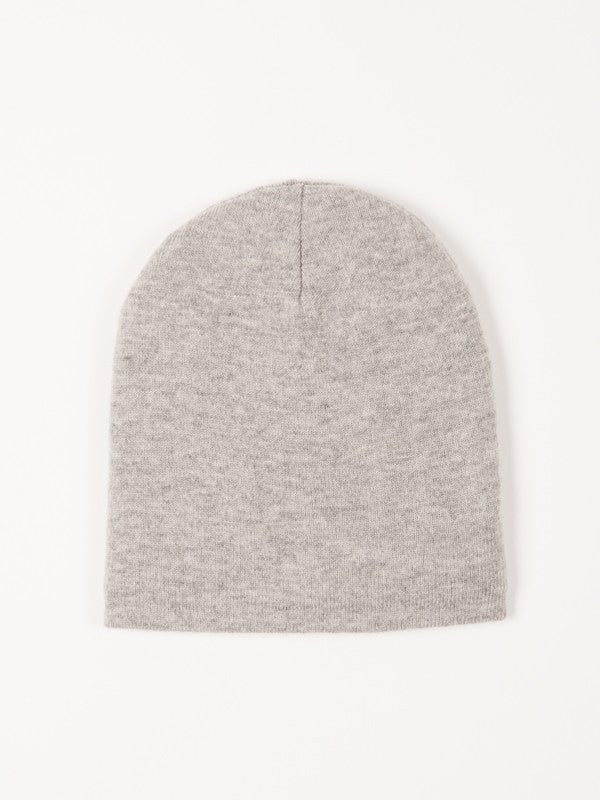 Cashmere & Wool Blend hat - Melange Grey