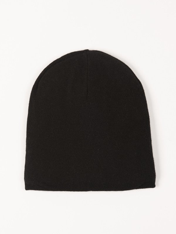 Cashmere & Wool Blend hat - Black