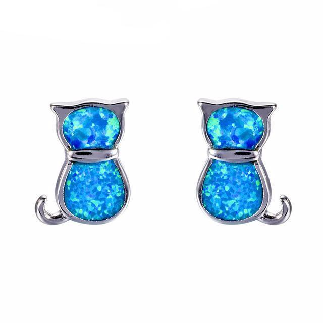 fire earrings aqua opal il stud listing zoom