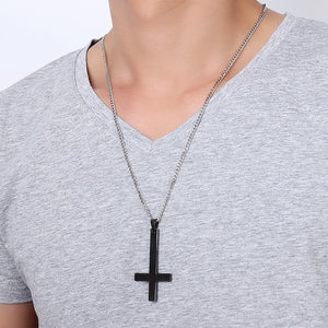 St Peter's Inverted Cross Pendant Necklace