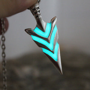 Glowing Green Arrow Necklace