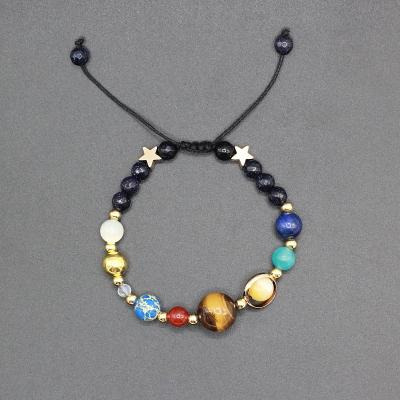 Solar System Guardian Star Natural Stone Beads Bracelet-adjustable-GRABITEMS.COM