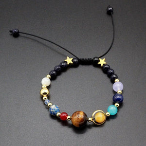 Solar System Guardian Star Natural Stone Beads Bracelet-Adjustable + Pluto-GRABITEMS.COM