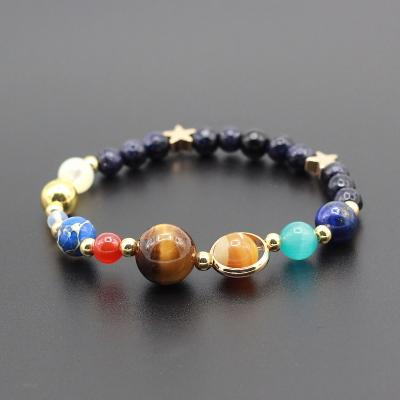 Solar System Guardian Star Natural Stone Beads Bracelet-sizeS-GRABITEMS.COM