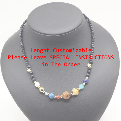 Solar System Necklace - New and Unique-Customizable size-GRABITEMS.COM