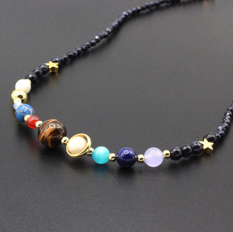 Solar System Necklace - New and Unique-Normal Size Include Pluto-GRABITEMS.COM