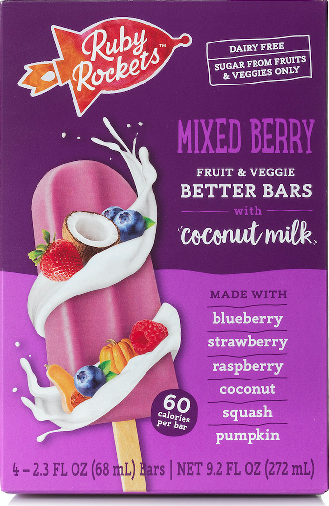 Mixed Berry Fruit & Veggie Better Bars with Coconut Milk