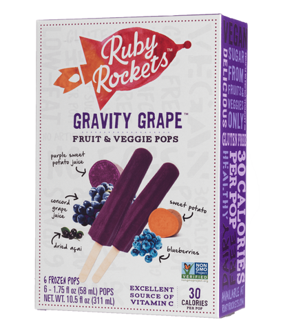 Rubyrockets.com Fruit & Veggie Pops Gravity Grape Frozen Pop