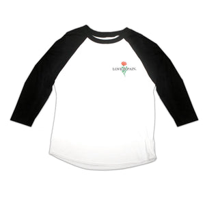 Love is Pain Baseball Tee Front